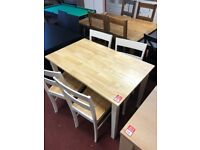 Chicago dining table and 4 chairs - solid wood