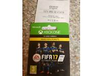 Xbox Fifa 17 Points Card