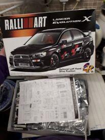 Ralli Art - Lancer Evolution X car model kit.