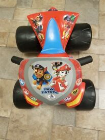 Paw Patrol 6v quad bike (1 month old ) as new