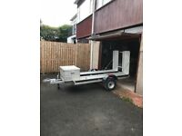 Unbraked quad bike trailer 650kg including spare wheel and new ligthing board