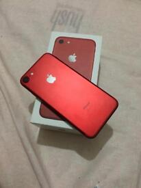 Iphone 7 RED 128 gb UNLOCKED 5 MONTH APPLE WARANTY