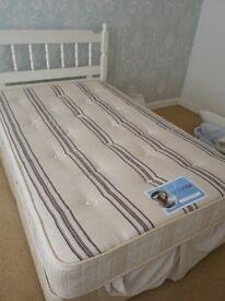 Divan bed mattress and headboard