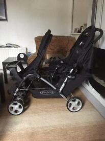 GRACO DELUXE DOUBLE TANDEM BUGGY