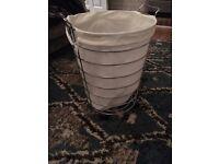 Chrome Laundry Basket