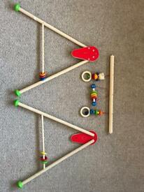 Baby play frame wooden