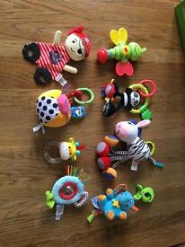 Baby toys for pram/car seat/highchair/cot books