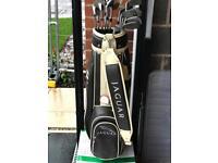 Jaguar Golf Bag and various Clubs