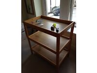 Baby changing table, freestanding, wooden, good condition, sturdy
