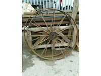 Garden ornament iron wheel Diameter 1m
