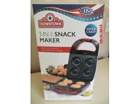 Downtown 3 In 1 Snack Maker Doughnuts/Cake Pops/Waffles New In Box