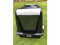 Covered cat litter trays
