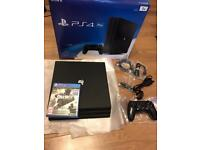 PS4 PRO 4K 1TB fully boxed + all leads and controller + COD Infinite Warfare