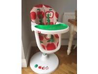 Cosatto 3sixti high chair red apple