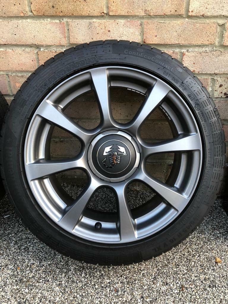 Fiat 500 595 Abarth 16 8 Spoke Spare Alloy Wheel With Tyres In Tire Location