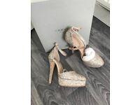 Ladies KurtGieger prom shoe size 5 Excellent condition worn twice