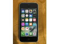 Apple iPhone 5c blue 8gb on Three (3) Network