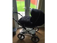 Silver cross pram,rain cover, cosy toes,car seat all from a pet/smoke free home