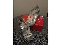Silver Diamanté stiletto heel