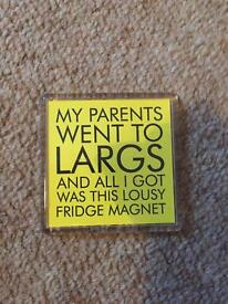 My parents went to Largs... magnet *new*