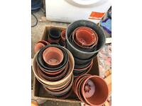 Box of 150 plastic plant pots - £10 (bh10 Wallisdown)