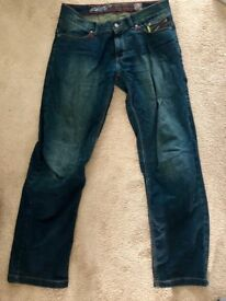 RST Vintage 2 Motorcycle jeans - 32 waist regular dark wash colour