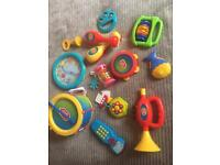 Bundle of baby toys, instrument set