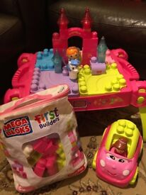 Mega Blocks Princess Fairytale Table, First Builders Bag & Catie Convertible Car