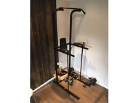 'Power Tower' All in one fitness system + weights & belt. Excellent condition!