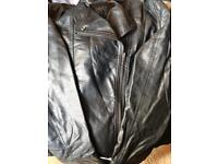 Leather look jacket size 10