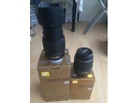 Nikkor 18-55 mm + Nikkor 55-200 mm