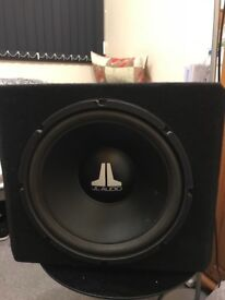 "Jl audio 12"" subwoofer comes with box"