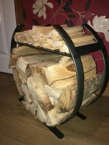 wrought iron log holder / log basket