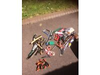 Used tools and box