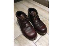 Vinagte Dr. Martens brown leather boots