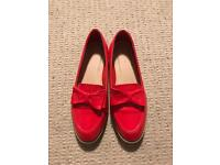 Asos Red Patent Slip-on Shoes (NEW), Dalston