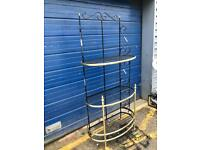 IRON & BRASS CASCADING SHELVES/ BOOKCASE/ BAKERS STAND £95 - ANTIQUE VINTAGE RETRO 1