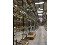 job lot link pallet racking 8 meters high( storage ,industrial shelving ).