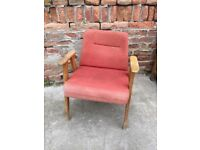 AWESOME Vintage LISTENING 60s CHAIR Quirky Furniture Seat Retro Decor Mid-Century