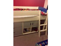 CHILD'S CABIN BED and CHEST OF DRAWERS Very Good Condition