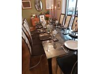 Get Ready For Christmas With This Stunning Glass Table And 10 Leather Chairs Length