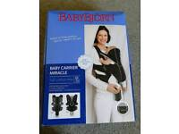 BABYBJÖRN Baby Carrier Miracle (Black/Silver, Cotton Mix)
