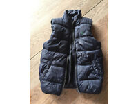 Boys Joules sleeveless puffer jacket