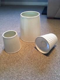 3 x Matching White Lampshades (IKEA)