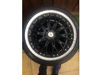 17 inch bk racing wheels