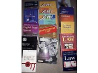 Selection of law text books