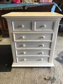 Girls white bedroom drawer unit