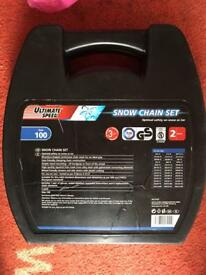 Snow chain set( size chart in photos)