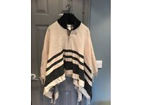 River Island poncho. One size. Worn once. Cost me £45