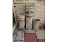 Old Chimney Pots for garden, just need a good jetwash.